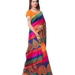 Designers Multicoloured Art Silk Saree